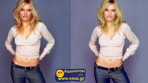 Διασημότητες πριν και μετά το ... photoshop 00