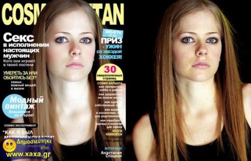Διασημότητες πριν και μετά το ... photoshop 06
