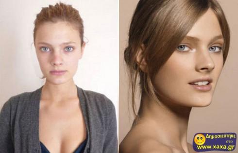 Μοντέλα χωρίς μακιγιάζ και photoshop  (11)